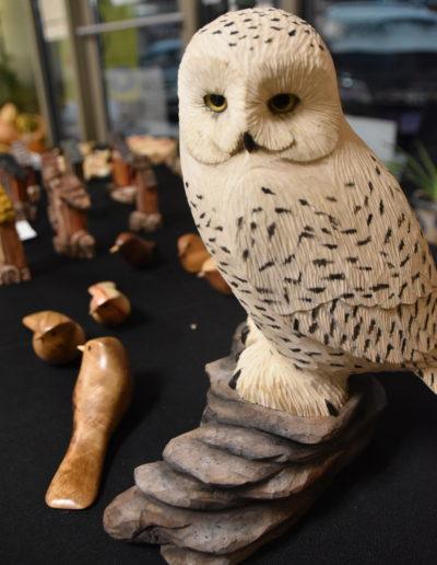 November 2017 St. Cloud Art Crawl photos wood carving