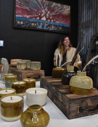 March 2018 Art Crawl photos pottery