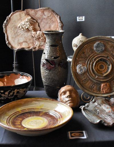 March 2018 Art Crawl photos pottery and sculpture