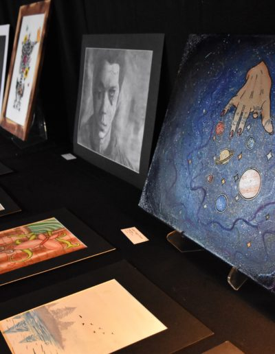 paintings and drawings March 2018 Art Crawl photos