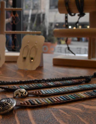 March 2018 Art Crawl photos jewelry