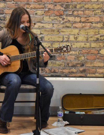 March 2018 Art Crawl photos live music acoustic